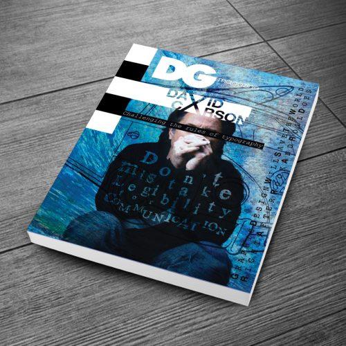 David Carson DG magazine cover